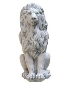 Steinfigur Löwe, Steinguss Skulptur