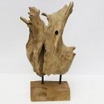 Gartenfiguren kaufen: Teakholz Skulptur - abstrakte Gartenfigur