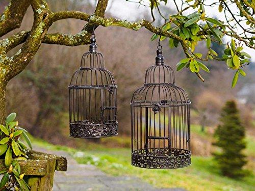 2x Dekokäfig - Antik Vogelkäfig Paar