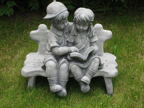 Steinkinder Paar - Kinderfigur - Steinguss