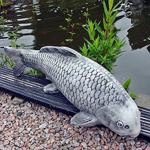 Steinfigur Koi Fisch Steinguss