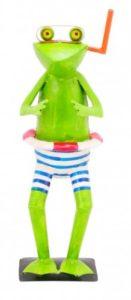 Frosch mit schnorchel aus metall gartenfiguren abc for Metall gartenfiguren