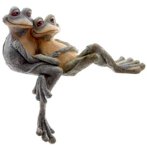 Kantenhocker Froschpaar, kuschelnd