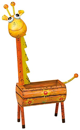Gartenfigur Giraffe - Blumenkübel aus Metall