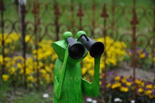 Gartenfigur Frosch, Spanner