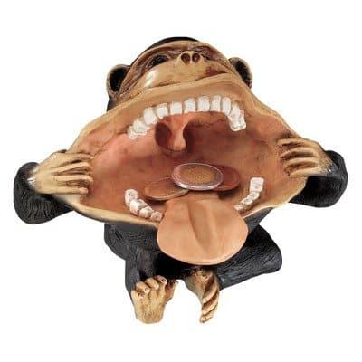 Deko Affe mit großem Maul