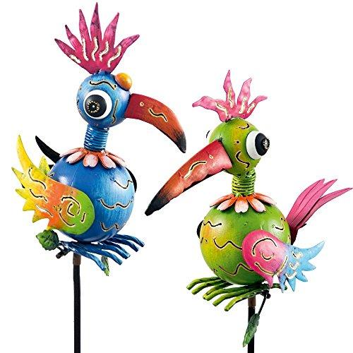 Gartenstecker Vogelpaar Windspiel