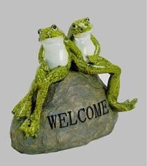 Deko Frosch Paar für Eingangsbereiche