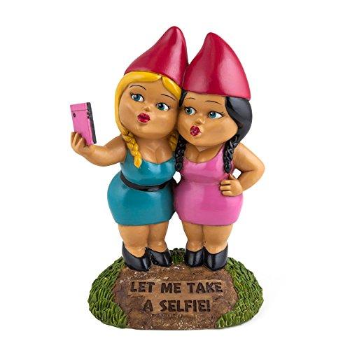 Gartenzwerg Selfie Schwestern
