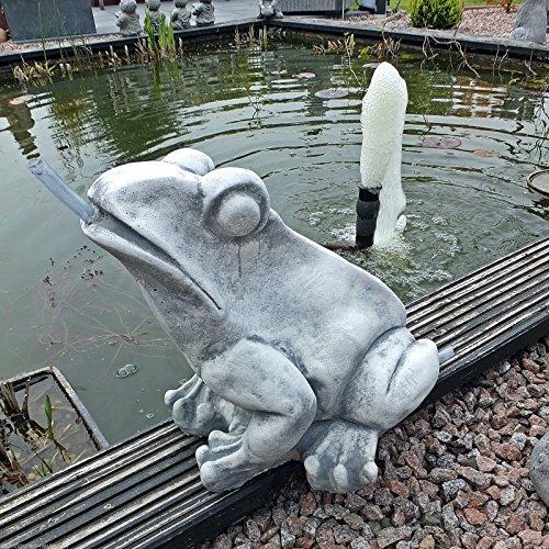 Steinguss Frosch Wasserspeier - Objekt für Teich oder Springbrunnen