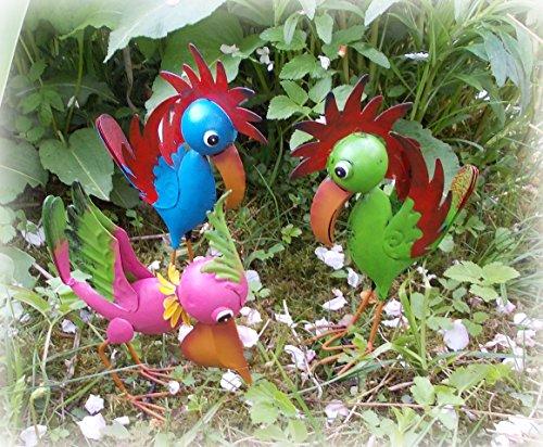 3 lustige Vögel aus Metall