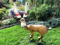 Deko Rentier lebensgroße Gartenfigur