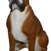 Gartenfigur Hund Boxer