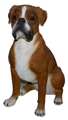 Gartenfiguren kaufen: Gartenfigur Hund Boxer
