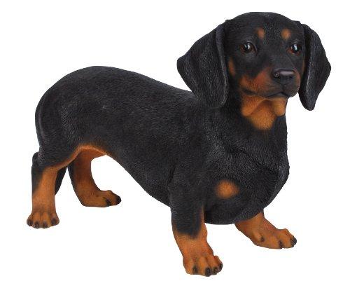 Gartenfiguren kaufen: Hundefigur Dackel/Dachshund aus Kunstharz