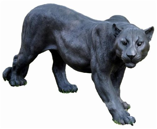 Gartenfiguren kaufen: Schwarzer Deko Jaguar Gartenfigur