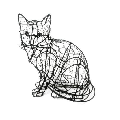 Drahtgestell Katze Buchsbaum Formschnitt