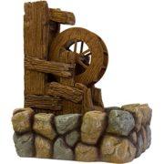Gartenbrunnen mit Wasserrad inkl. Pumpe