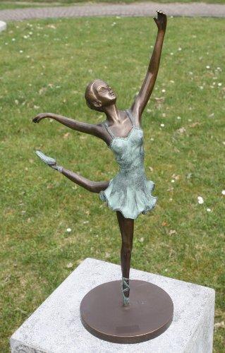 Bronze Ballerina Figur auf Bronzeplatte kaufen