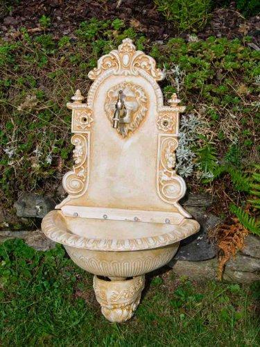 Antikes Gusseisen Waschbecken Wandbrunnen Löwenmotiv