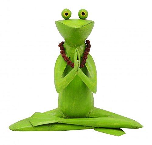 Yoga Figur - Frosch mit Kette - Gartendeko