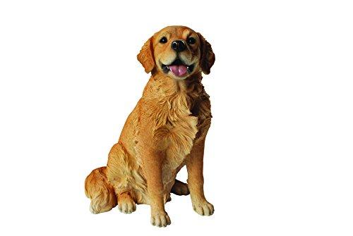 Garten Deko Hund - Golden Retriever sitzend