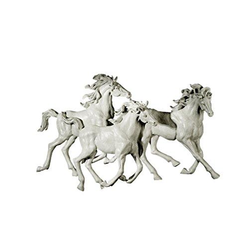 Wandskulptur Die drei Pferde
