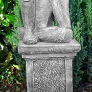 Steinguss Skulptur Träumer mit Säule