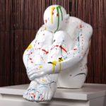 Casablanca Deko Skulptur denkender Mann