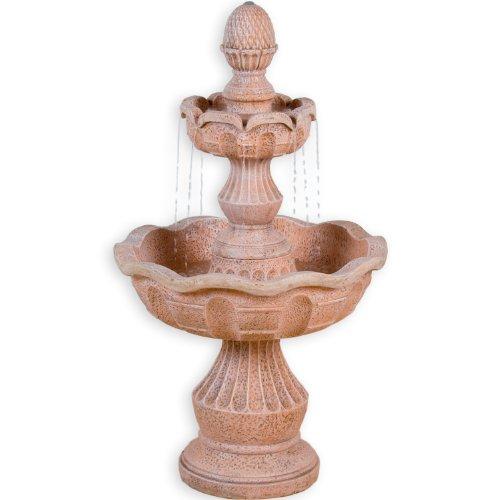Steinoptik Gartenbrunnen mit Pumpe