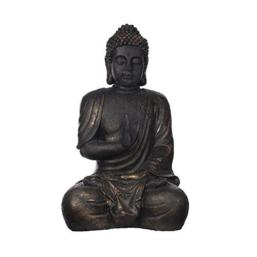 1m Buddha Bronze- oder Steinoptik