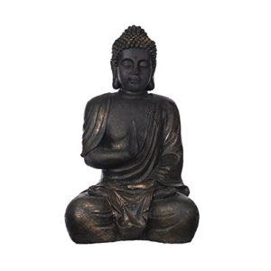 Riesiger Buddha Bronze oder Steingrau