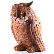 Gartendeko Holzfigur Eule – RUDY – 20 cm