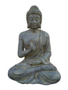 buddha figur sitzend f r haus und garten gartenfiguren abc. Black Bedroom Furniture Sets. Home Design Ideas