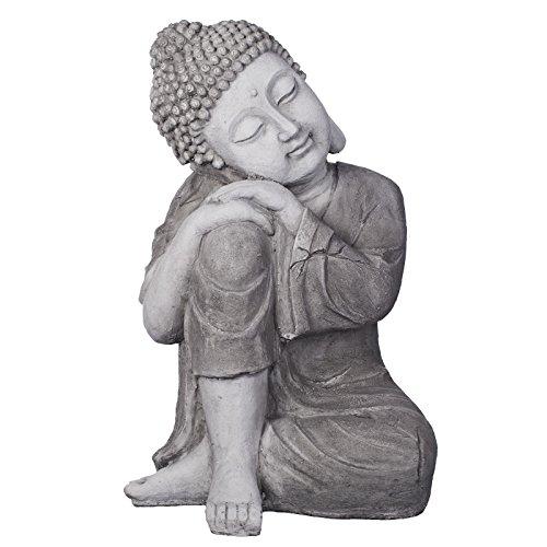 Großer Buddha: Bronze oder Steingrau