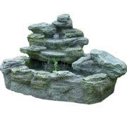 Gartenbrunnen mit Beleuchtung – Felsenbrunnen