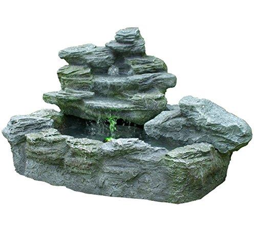 Gartenbrunnen mit Beleuchtung - Felsenbrunnen