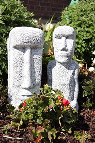 2 Osterinsel Figuren aus Stein