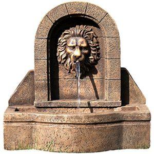 Gartenbrunnen mit Löwenkopf Wasserspiel