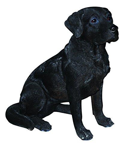 Vivid Arts Labrador Hund, schwarz, Kunstharz Gartendeko