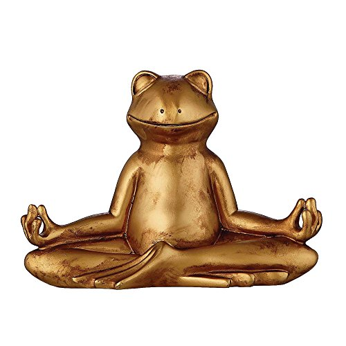 Deko Yoga Frosch am Meditieren
