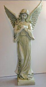 Gartenfigur großer Engel betend