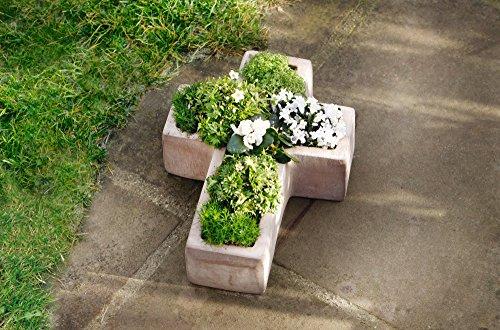Grabschmuck Kreuz Blumenkasten 35 x 26 x 9 cm