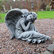Großer Engel Gartenfigur – Grabengel