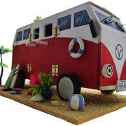 Vogelhaus Handarbeit Hippie-Bus