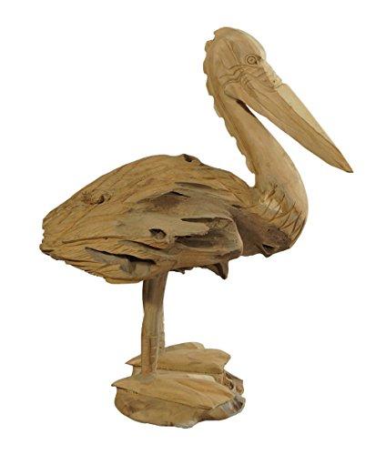 Pelikan aus Teakholz