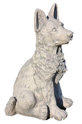 Schäferhund Steinfigur - Deko Hund kaufen