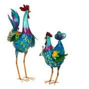 Hahn und Henne – Gartenfiguren Set