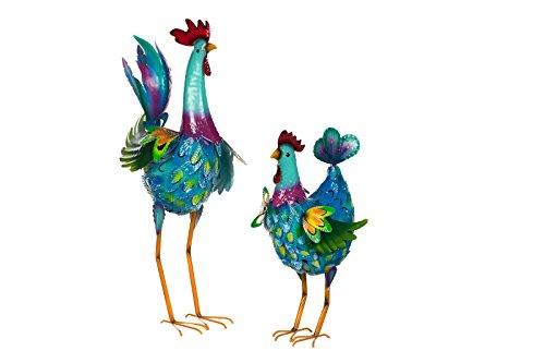 Hahn und Henne - Gartenfiguren Set