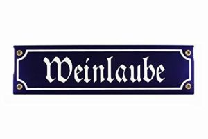 Gartenschild Weinlaube Wegweiser 30x8 cm